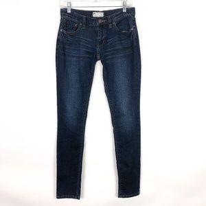 Free People Tijuana Skinny Jeans Dark Wash Lowrise